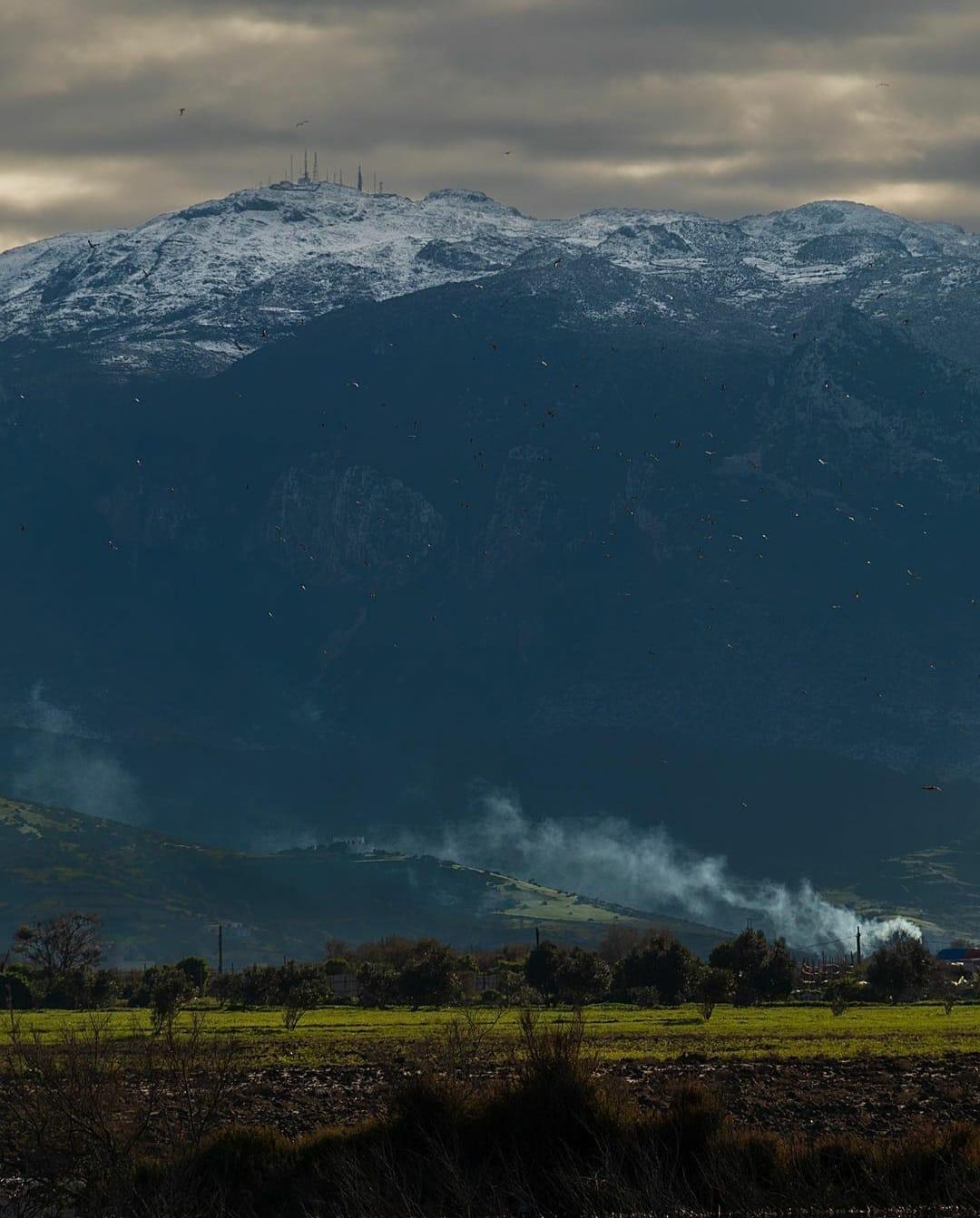 """الصورة لقمة حافة سافا """"الإذاعة"""" أعلى نقطة بجبل غورغيز ، تطوان شمال المغرب"""