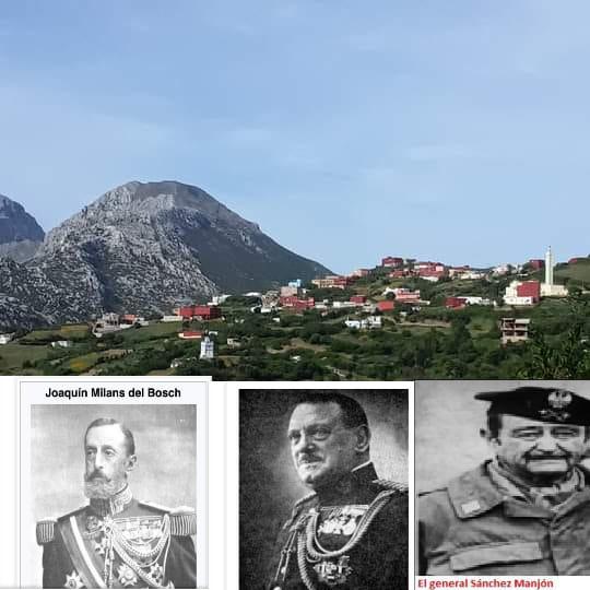 صور لجنرالات إسبان الذين أوكلت إليهم مهمة الهجوم على قرية البيوت