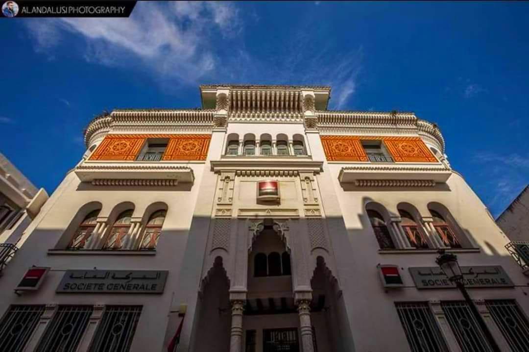 صورة لأحد أجمل مباني الإنسانشي بمركز مدينة تطوان