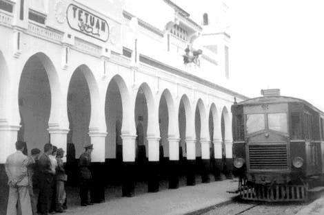 محطة القطار بتطوان عام 1918
